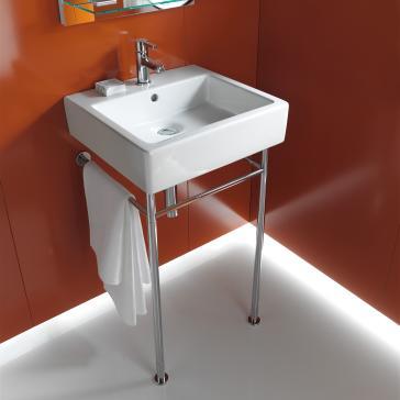Bathroom Sinks With Metal Legs duravit 0454500 vero washbasin with metal console legs