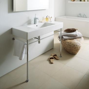 Bathroom Sinks With Metal Legs duravit 032985 vero washbasin with metal console legs