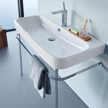 Duravit 231810 Happy D2 Furniture Washbasin With Metal Console