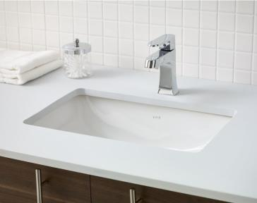Cheviot 1104 wh seville undermount sink for Replace undermount bathroom sink