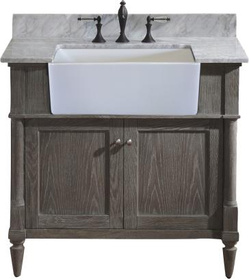 "Rustic Chic Bathroom Vanity fairmont designs 142-fv36 rustic chic 36"" farmhouse vanity"