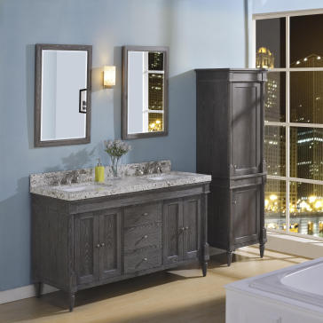 "Rustic Chic Bathroom Vanity fairmont designs 142-v6021d rustic chic 60"" double bowl vanity"