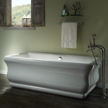 Mti SWH Parisian  Freestanding Soaker Tub QualityBathcom - Rectangular freestanding soaking tub