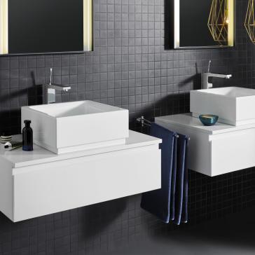 Grohe 23662000 eurocube joy xl size lavatory faucet for Grohe eurocube bathroom faucet