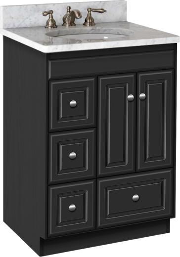 """Bathroom Vanities 24 X 18 strasser woodenworks 21.355 montlake 24"""" vanity with left hand"""