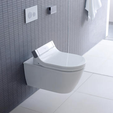 Wall Hanging Toilet duravit 2544590092 darling new wall mounted toilet with sensowash