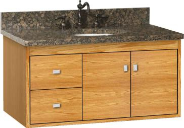 Strasser Woodenworks Sodo 36 Vanity With Left Hand Drawers And Slab Doors