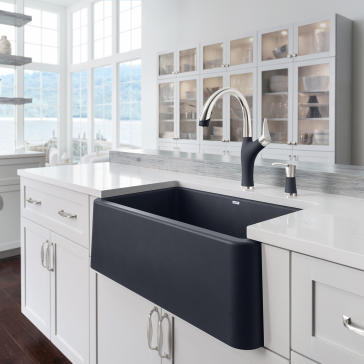 bathroom apron sink blanco 401734 ikon 30 quot apron front sink qualitybath 10202
