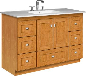 Strasser Woodenworks 23 126 image 1. Strasser Woodenworks 23 126 Montlake 48  Vanity With Shaker Doors