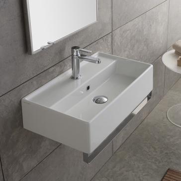Scarabeo 5002 Tb Teorema Bathroom Sink With Towel Bar