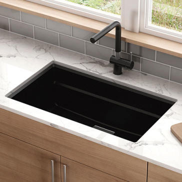 franke granite kitchen sinks franke pkg11031 peak 32 quot granite kitchen sink 3522