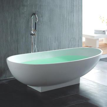 freestanding tub. Hastings OVO TUB image 1 Ovo Silk Freestanding Tub  QualityBath com