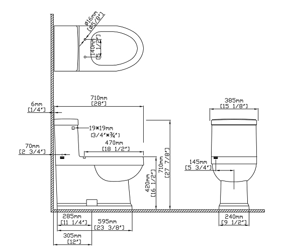 Appealing Standard Dimensions Of A Toilet Photos