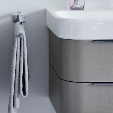 duravit h26364 happy d 2 24 5 8 wall mounted vanity unit. Black Bedroom Furniture Sets. Home Design Ideas