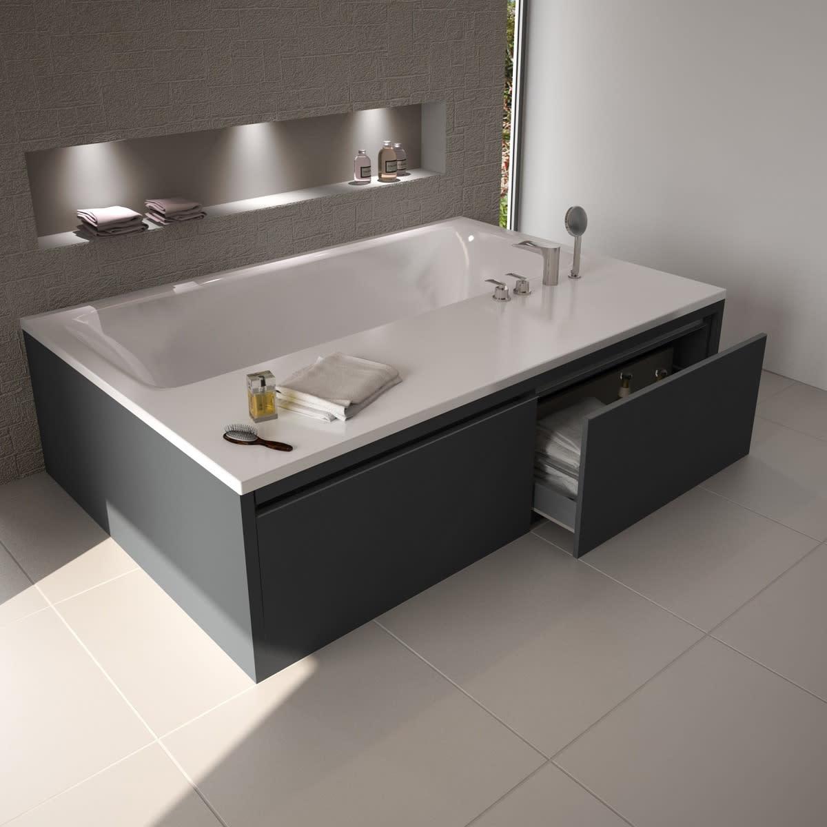 Put your bathtub on a pedestal abode for Secret drawer kitchens