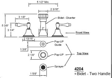 California Faucets 4204-MONO image-2