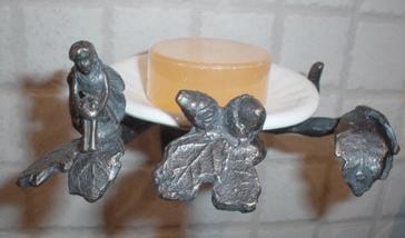 Elite Bath Fairy Tale Oak Pedestal and Vessel image-3