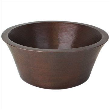 Tiny Vessel Sink : Linkasink C026 Small Double Wall Copper Vessel Sink