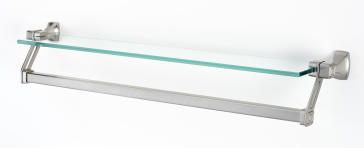 Alno A6527 25 Cube 26 Quot 25 Quot Glass Shelf With Towel Bar