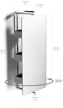 Samuel Heath L5148 PN Xenon Swivel Mirror With Trays