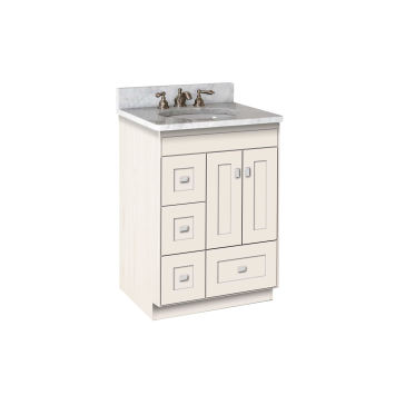 Strasser Woodenworks Montlake 24 Vanity With Left Hand Drawers And Shaker Doors