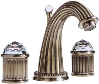 Santec 1120cd Monarch Crystal Widespread Lavatory Faucet