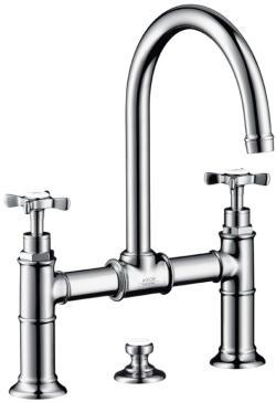 Axor 16510 Axor Montreux Widespread Faucet With Cross Handles Bridge Model