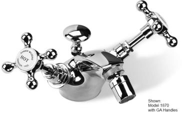 Barber Wilsons 1870 Single Hole Bidet With Metal Levers