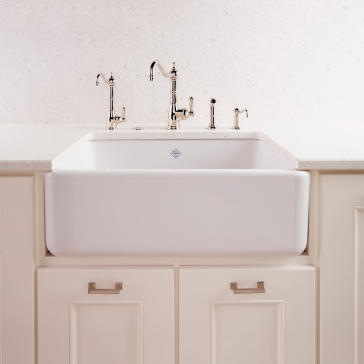 Rohl Farmhouse Sink : Rohl RC3018 image 3. Rohl RC3018 Shaws 30 Original Fireclay Apron Sink