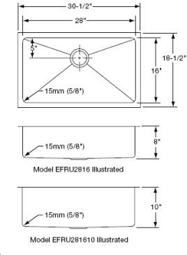 Elkay EFRU2816 / EFRU281610 image-2