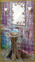 Elite Bath Fairy Tale Oak Pedestal and Vessel