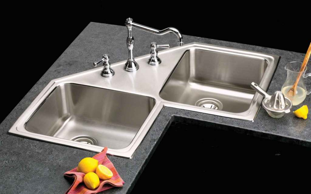 Elkay Gourmet Double Bowl Corner Sink