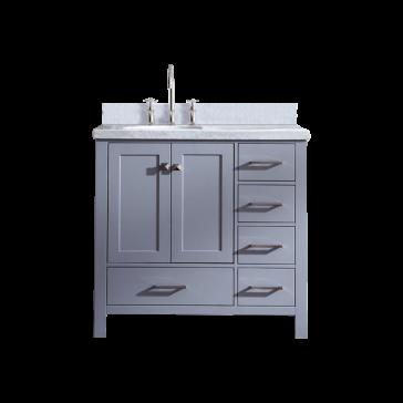 Ariel A037s Cambridge 36 Single Sink Bathroom Vanity Set With Offset Sink