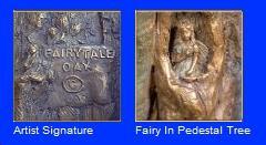 Elite Bath Fairy Tale Oak Pedestal and Vessel image-2