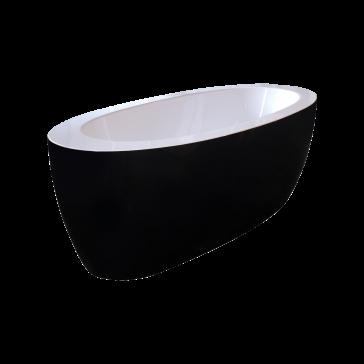 ps174a blck wht purescape acrylic freestanding acrylic bathtub
