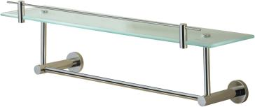 Valsan 675861 Porto 23 5 8 Glass Shelf With Under Rail