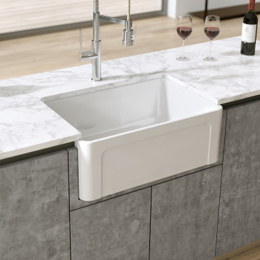 Latoscana Ltw2718w 27 Quot Reversible Fireclay Farmhouse Sink