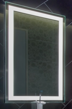 electric bathroom mirrors electric mirror int5436 integrity 54 quot lighted mirror 12769