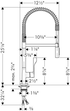 hansgrohe 39840 axor citterio semi pro kitchen faucet. Black Bedroom Furniture Sets. Home Design Ideas