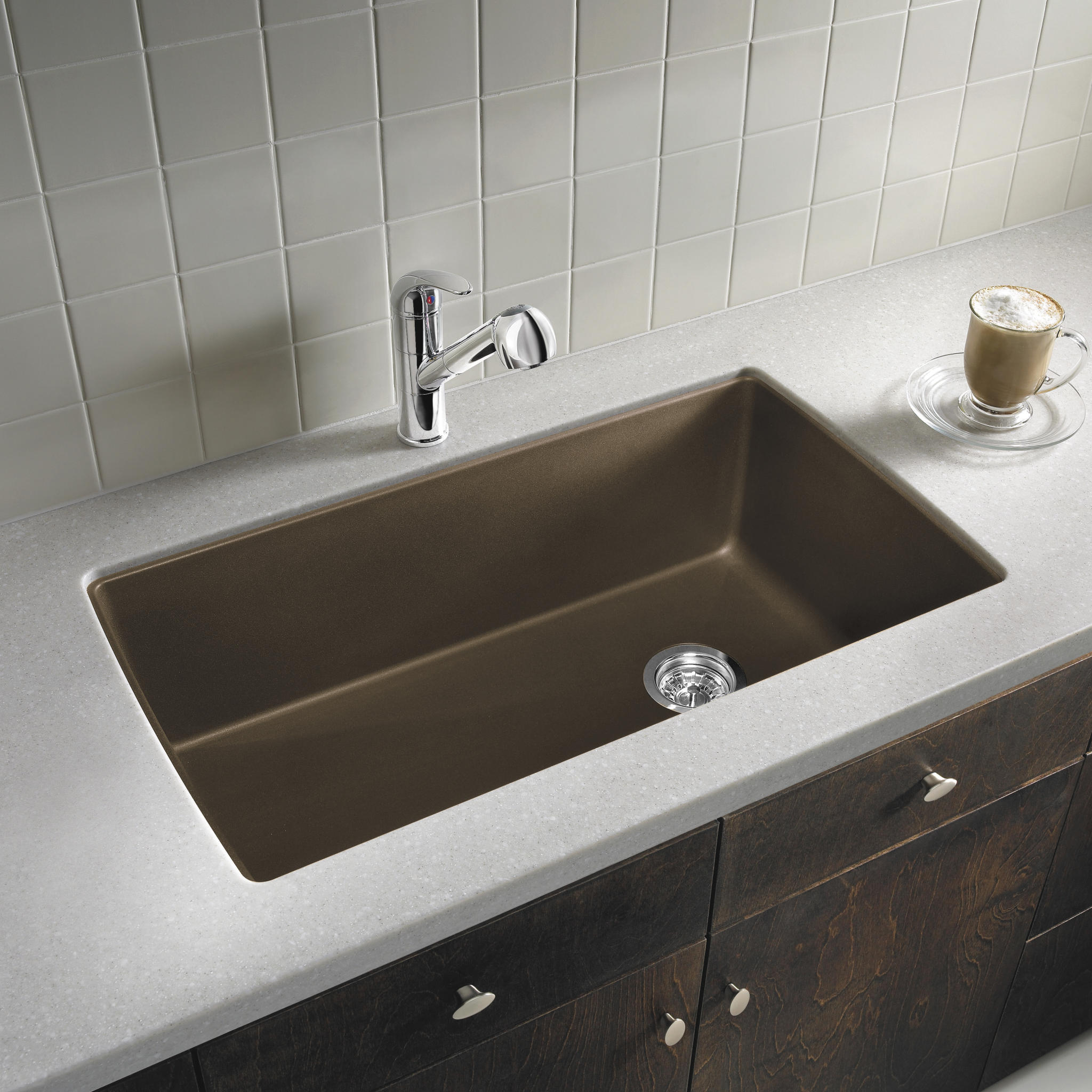 whats right sink size kitchen standard kitchen sink size Blanco 32 1 2 Diamond Super Single Bowl Sink Standard kitchen