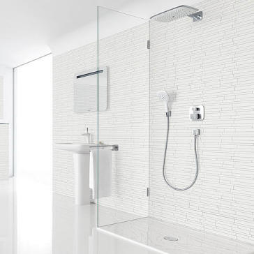 hansgrohe puravida set 1001 puravida thermostatic shower set with showerhead and handshower. Black Bedroom Furniture Sets. Home Design Ideas