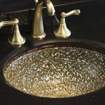 Oceana bathroom sinks image 6. Oceana 007 307 Pebbles Glass Undermount Or Drop In Sink 17 quot  X 14 quot