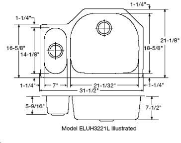 Elkay ELUH3221L image-2
