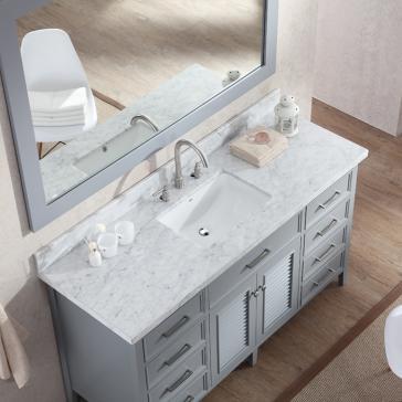 Ariel D061s Kensington 60 Quot Single Sink Bathroom Vanity Set