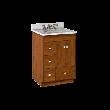 Strasser woodenworks montlake 24 vanity with left hand drawers and slab doors for 36 bathroom vanity left hand drawers