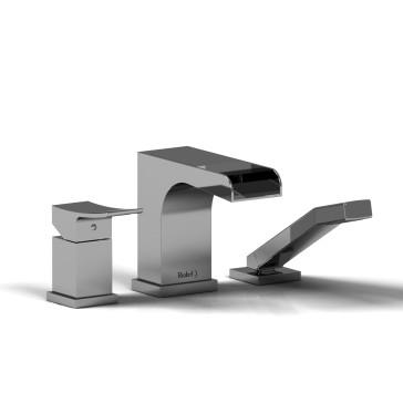 Riobel ZOOP16 Zendo 3 Piece Deck Mount Open Spout Tub Filler