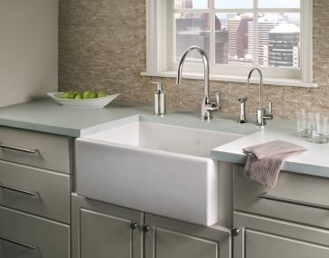 Rohl Shaw Farm Sink : Rohl Ms Shaws Quot Single Bowl Fireclay Apron Kitchen  Sink