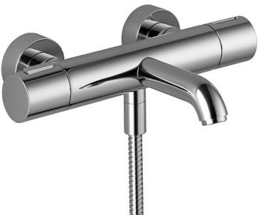 dornbracht 34200979 1 2 wall mounted tub thermostat. Black Bedroom Furniture Sets. Home Design Ideas