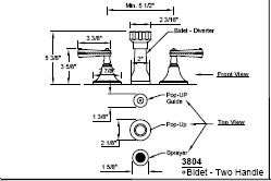 California Faucets 3804-MONO image-2