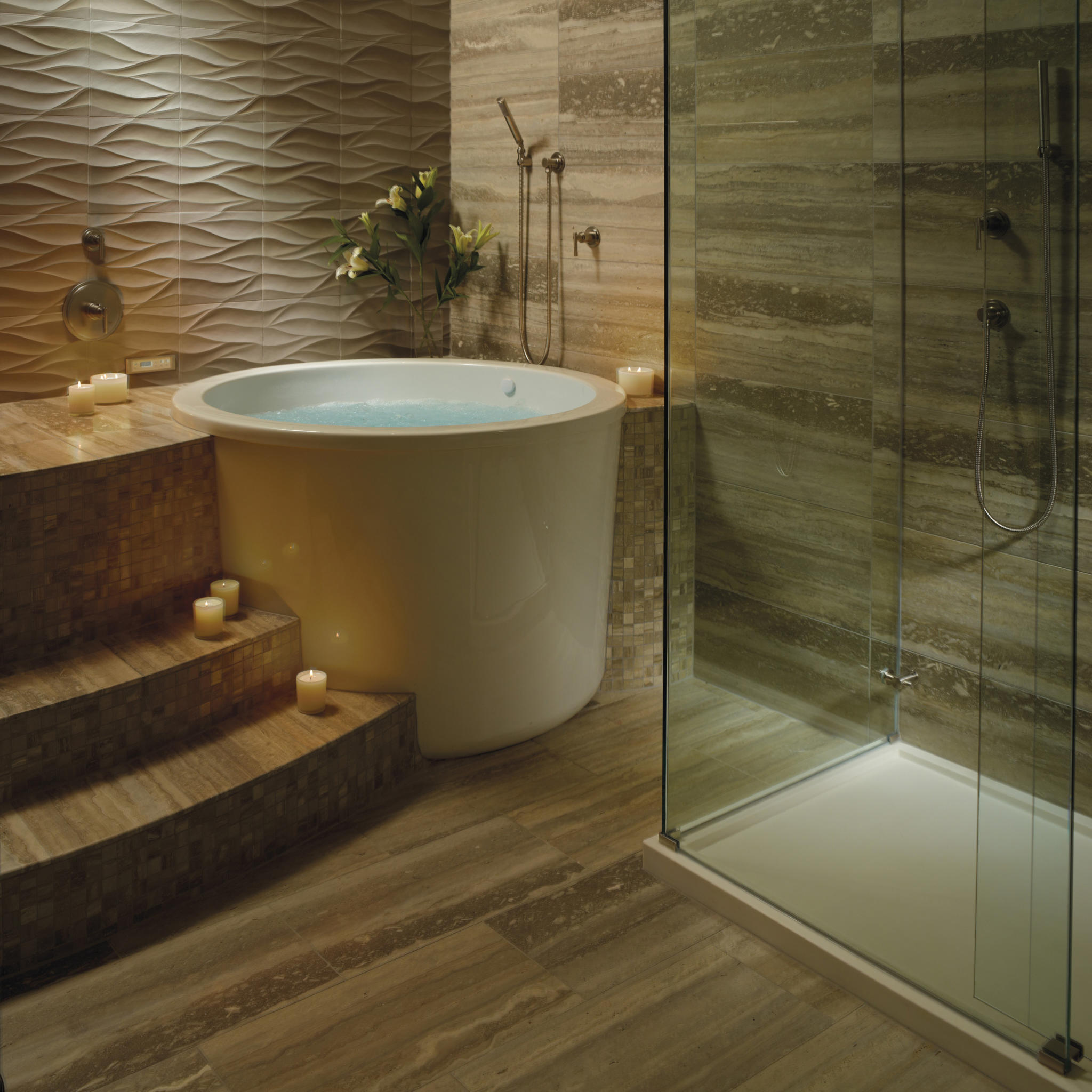 Compact comfort the japanese tub abode for Bathroom ideas with soaker tubs